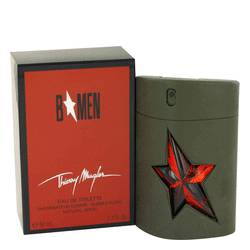 B Men Cologne by Thierry Mugler, 1.7 oz EDT Spray Rubber Flask for Men