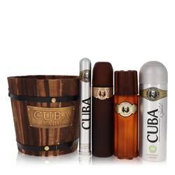 Cuba Gold Gift Set by Fragluxe Gift Set for Men Includes 3.4 oz Eau De Toilette Spray + 1.17 oz Eau De Toilette Spray + 6.7 oz Body Spray + 3.3 oz After Shave