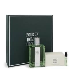 Caron Pour Homme Gift Set by Caron Gift Set for Men Includes 4.2 oz Eau De Toilette Spray + 3.3 oz Soap + .06 oz Vial (sample)