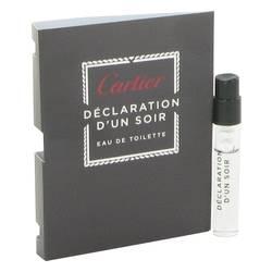 Declaration D'un Soir Sample by Cartier, .05 oz Vial (sample) for Men Cologne