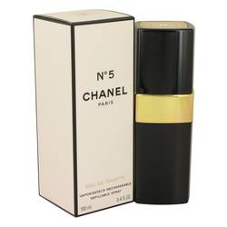 Chanel No. 5 Perfume by Chanel, 3.4 oz EDT Spray Refillable for Women