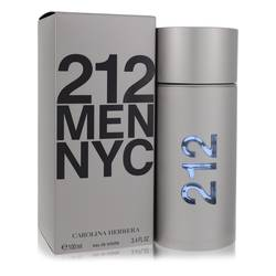 212 Cologne by Carolina Herrera, 3.4 oz Eau De Toilette Spray (New Packaging) for Men