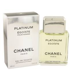 Egoiste Platinum Cologne by Chanel, 3.4 oz EDT Spray for Men