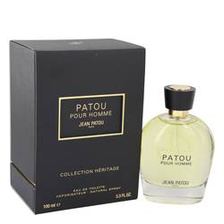 Patou Pour Homme by Jean Patou – Eau De Toilette Spray (Heritage Collection) 3.4 oz (100 ml) for Men