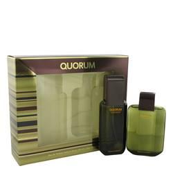 Quorum Gift Set by Antonio Puig Gift Set for Men Includes 3.3 oz Eau De Toilette Spray + 3.3 oz After Shave