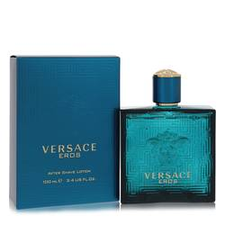 Versace Eros After Shave by Versace, 3.4 oz After Shave Lotion for Men