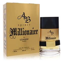 Spirit Millionaire Cologne by Lomani 3.3 oz Eau De Toilette Spray