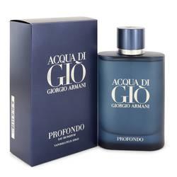 Acqua Di Gio Profondo Cologne by Giorgio Armani 4.2 oz Eau De Parfum Spray