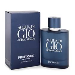 Acqua Di Gio Profondo Cologne by Giorgio Armani 2.5 oz Eau De Parfum Spray