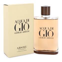 Acqua Di Gio Absolu Cologne by Giorgio Armani 6.7 oz Eau De Parfum Spray