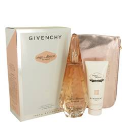 Ange Ou Demon Le Secret Perfume by Givenchy -- Gift Set - 3.3 oz  Eau De Parfum Spray + 2.5 oz Body Viel + Pouch