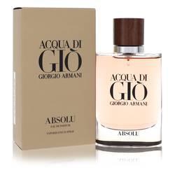 Acqua Di Gio Absolu Cologne by Giorgio Armani 2.5 oz Eau De Parfum Spray