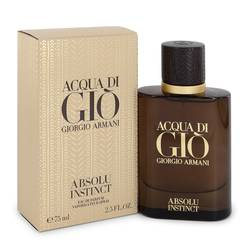 Acqua Di Gio Absolu Instinct Cologne by Giorgio Armani 2.5 oz Eau De Parfum Spray