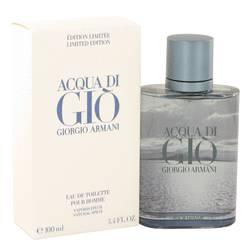 Acqua Di Gio Blue Edition Cologne by Giorgio Armani 3.4 oz Eau De Toilette Spray (Limited Edition)