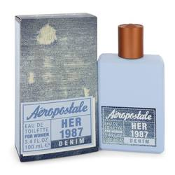 Aeropostale Her 1987 Denim Perfume by Aeropostale 3.4 oz Eau De Toilette Spray