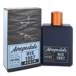 Aeropostale His 1987 Denim Cologne by Aeropostale 3.4 oz Eau De Toilette Spray