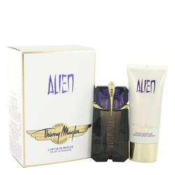 Alien Perfume by Thierry Mugler -- Gift Set - 2 oz Eau De Parfum Spray + 3.4 oz Body Lotion  (Travel Set)