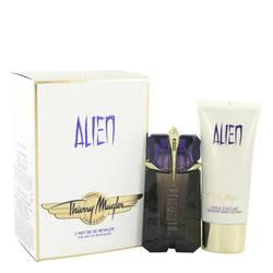Alien Perfume by Thierry Mugler -- Gift Set - 2 oz Eau De Parfum Spray + 3.4 oz Body Lotion  (Travel Set)