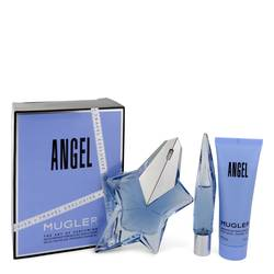 Angel Perfume by Thierry Mugler -- Gift Set - 1.7 oz Eau De Parfum Spray Refillable + 0.3 oz Mini EDP Purse Spray + 1.7 oz Shower Gel
