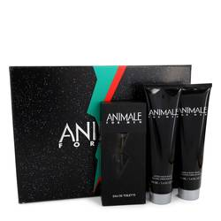 Animale Cologne by Animale -- Gift Set - 3.3 oz Eau De Toilette Spray + 3.4 oz After Shave Balm + 3.4 oz Body Wash