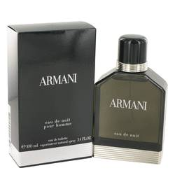 Armani Eau De Nuit Cologne by Giorgio Armani 3.4 oz Eau De Toilette Spray