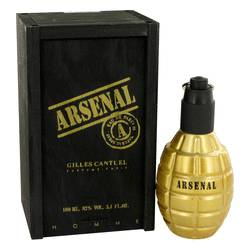 Arsenal Gold Cologne by Gilles Cantuel 3.4 oz Eau De Parfum Spray