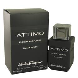 Attimo Black Musk Cologne by Salvatore Ferragamo 3.4 oz Eau De Toilette Spray
