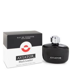 Aviator Black Leather Cologne by Paris Bleu 3.3 oz Eau De Toilette Spray