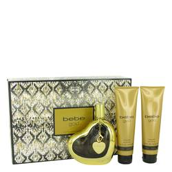 Bebe Gold Perfume by Bebe -- Gift Set - 3.4 oz Eau De Parfum Spray + 3.4 oz Body Lotion + 3.4 oz Shower Gel