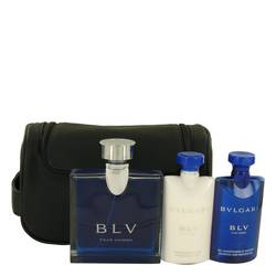 Bvlgari Blv (bulgari) Cologne by Bvlgari -- Gift Set - 3.4 oz Eau De Toilette Spray + 2.5 oz After Shave Balm +2.5 oz Shower Gel + Pouch