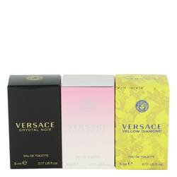Bright Crystal Perfume by Versace -- Gift Set - Miniature Collection Includes Crystal Noir, Bright Crystal and Versace Yellow Diamond