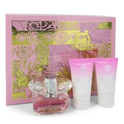 Bright Crystal Perfume by Versace -- Gift Set - 1.7 oz Eau De Toilette Spray + 1.7 oz Shower Gel + 1.7 oz Body Gel