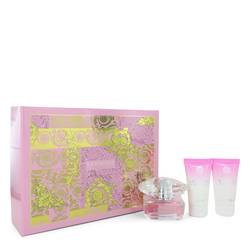 Bright Crystal Perfume by Versace -- Gift Set - 1.7 oz Eau De Toilette Spray + 1.7 oz Body Lotion + 1.7 oz Shower Gel