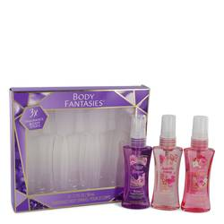 Body Fantasies Signature Japanese Cherry Blossom Perfume by Parfums De Coeur -- Gift Set - Three 1.7 oz Body Sprays Includes Japanese Cherry Blossom + Sweet Crush + Pink Sweet Pea Fantasy