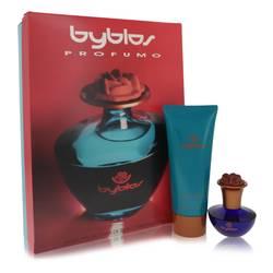 Byblos Perfume by Byblos -- Gift Set - 1.68 oz Eau De Parfum Spray + 6.75 Body Lotion