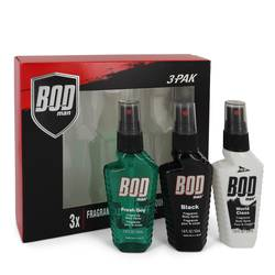 Bod Man Fresh Guy Cologne by Parfums De Coeur -- Gift Set - Includes Fresh Guy, Black and World Class all in 1.5 oz Body Sprays