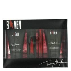 B Men Cologne by Thierry Mugler -- Gift Set -  0.5 oz Eau De Toilette Spray + .5 oz EDT Refill + 1.7 oz Hair/Body Shampoo + 1.7 oz After Shave Gel