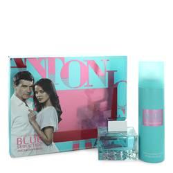 Blue Seduction Perfume by Antonio Banderas -- Gift Set - 2.7 oz Eau De Toilette Spray + 5.1 oz Deodorant Spray