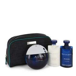Bvlgari Aqua Atlantique Cologne by Bvlgari -- Gift Set - 3.4 oz Eau De Toilette Spray + 2.2 oz Shower Gel + 2.2 oz After Shave Balm in Pouch