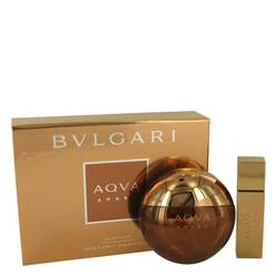 Bvlgari Aqua Amara Cologne by Bvlgari -- Gift Set - 3.4 oz Eau De Toilette Spray + 0.5 oz Mini EDT Spray