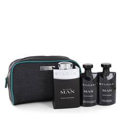 Bvlgari Man Black Cologne Cologne by Bvlgari -- Gift Set - 3.4 oz Eau De Toilette Spray + 2.5 oz After Shave Balm + 2.5 oz Shower Gel in Pouch