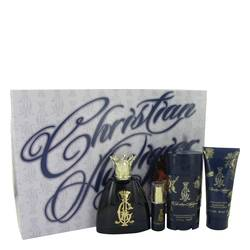 Christian Audigier Cologne by Christian Audigier -- Gift Set - 3.4 oz Eau De Toilette Spray + .25 oz MIN EDT + 3 oz Body Wash + 2.75 Deodorant Stick