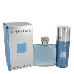 Chrome Cologne by Azzaro -- Gift Set - 3.4 oz Eau De Toilette Spray + 5 oz Deodorant Spray