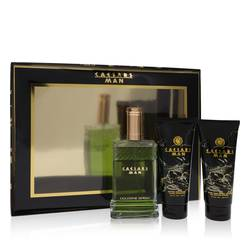 Caesars Cologne by Caesars -- Gift Set - 4 oz Cologne Spray + 3.3 oz Shower Gel + 3.3 oz After Shave Balm