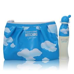 Cheap & Chic Light Clouds Perfume by Moschino -- Gift Set - 1.7 oz Eau De Toilette Spray with Free Cosmetic Pouch