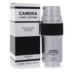 Camera Long Lasting Cologne by Max Deville 3.4 oz Eau De Toilette Spray
