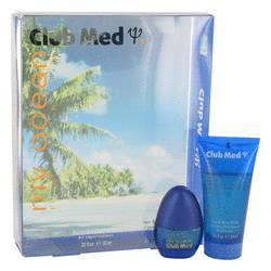 Club Med My Ocean Cologne by Coty -- Gift Set - .33 oz Mini EDT Spray + 1.85 oz Hair & Body Wash