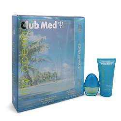 Club Med My Ocean Perfume by Coty -- Gift Set - .33 oz Mini EDT Spray + 1.85 oz Body Lotion