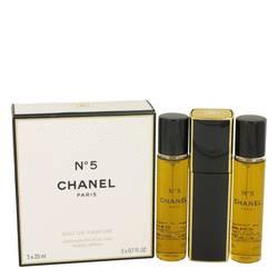 Chanel No. 5 Perfume by Chanel 3  x 0.07 oz Eau De Parfum Spray Refillable Includes 1 Purse Spray and 2 Refills