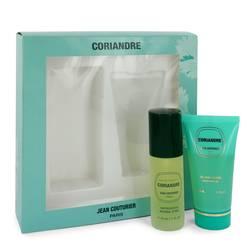 Coriandre Perfume by Jean Couturier -- Gift Set - 1.1 oz Eau De Toilette Spray + 1.7 oz Shower  Gel